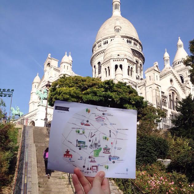 Minimap in Montmartre