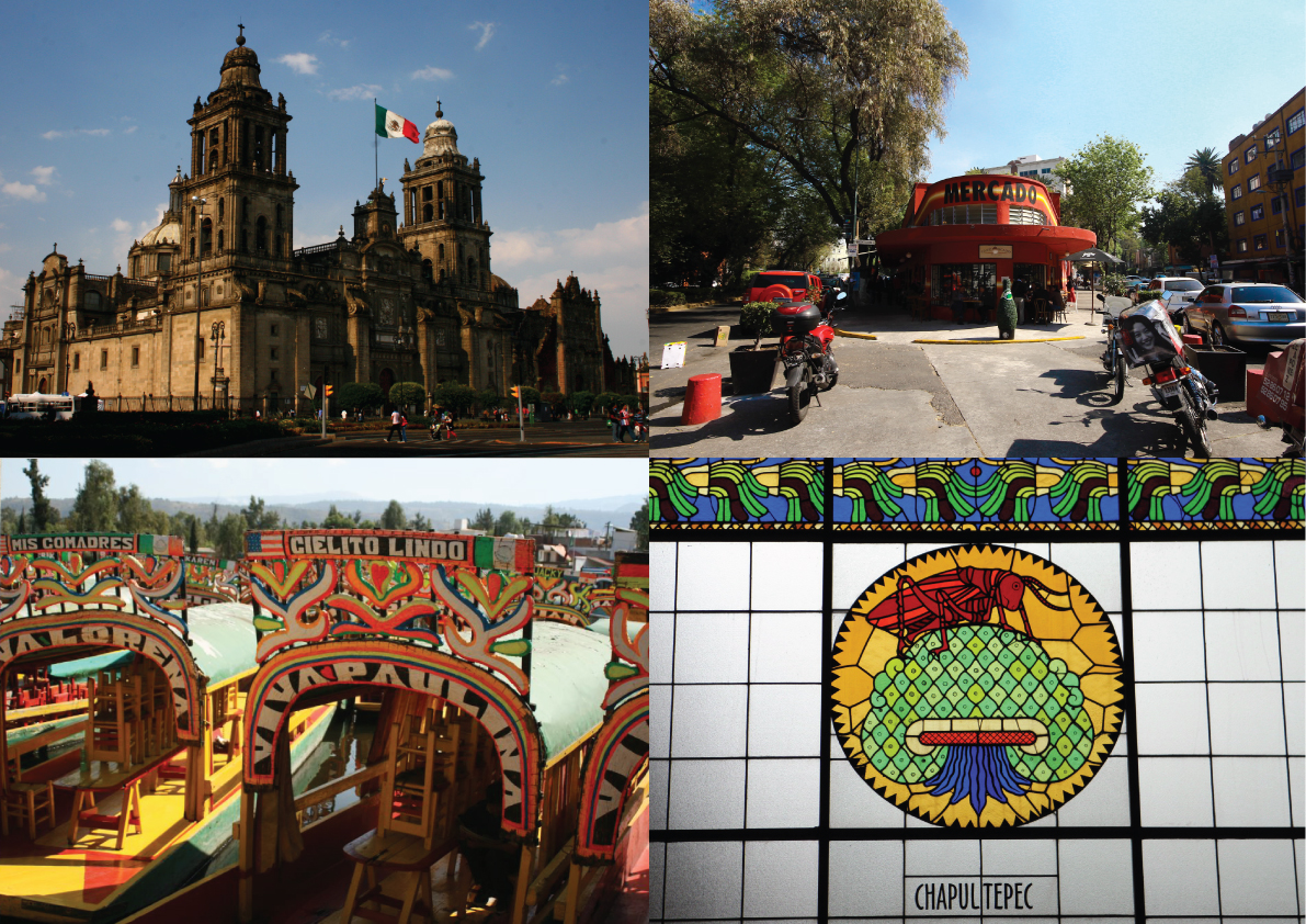 Folky, Colourful, Happy Ciudad de México Minimap. See more at www.superminimaps.com