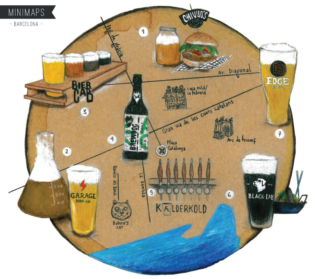 Barcelona Craft Beer Minimap. See more: www.superminimaps.com