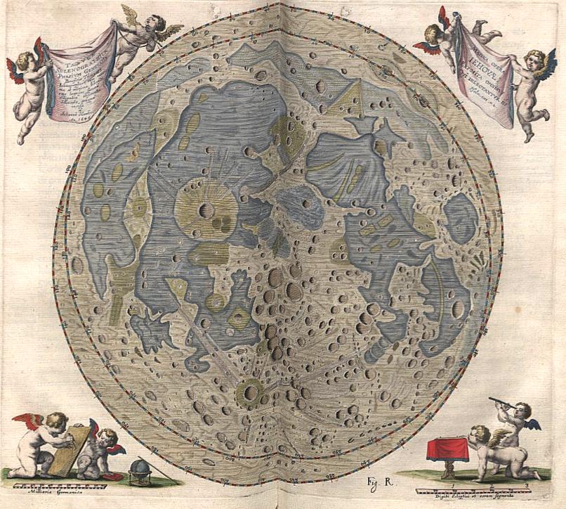 Moon Minimap by Johannes Hevelius