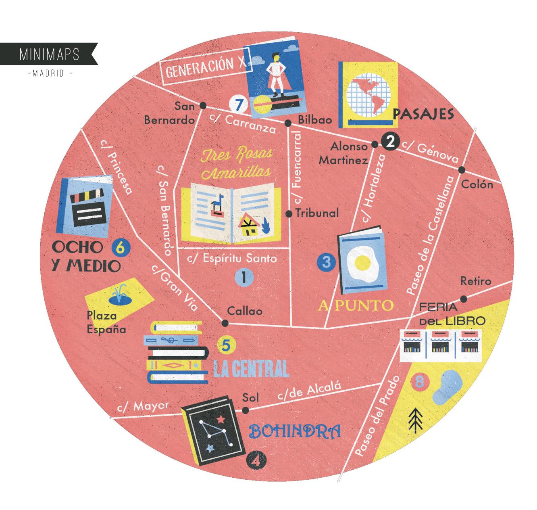 Minimap-Madrid-Librerias - See more: www.superminimaps.com