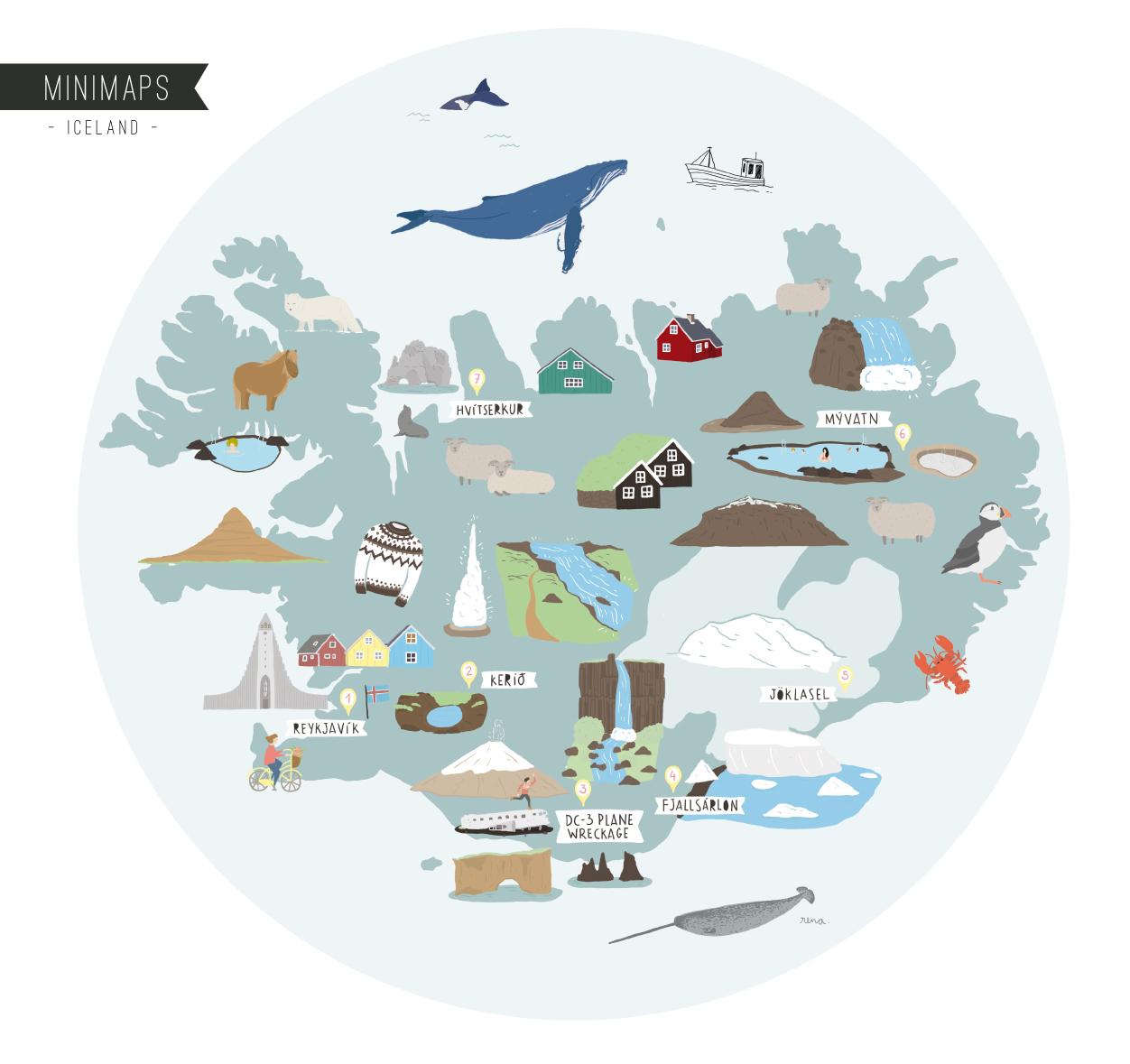 Iceland Magic Journey Minimap. See more: superminimaps.com
