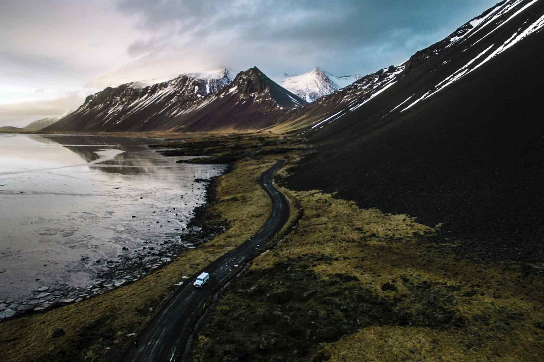 The Icelandic solitude makes for one of the world's most fascinating natural landscapes   Photo: Andre Filipe via Unsplash.