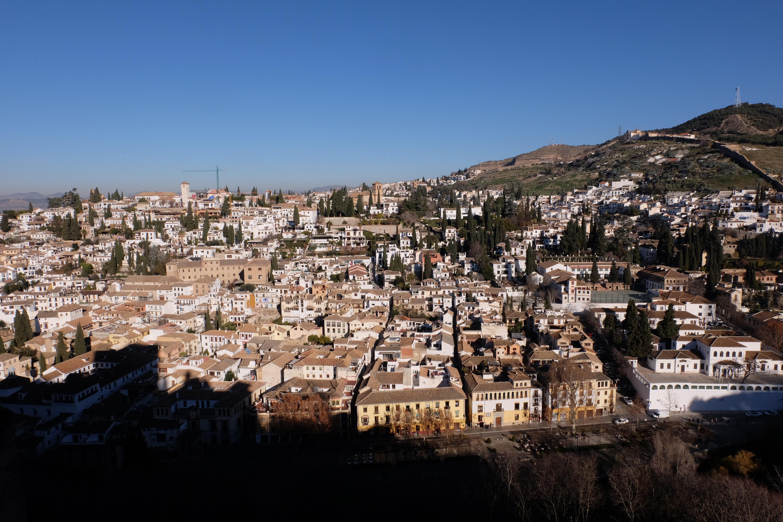 The Albaicín from La Alhambra.