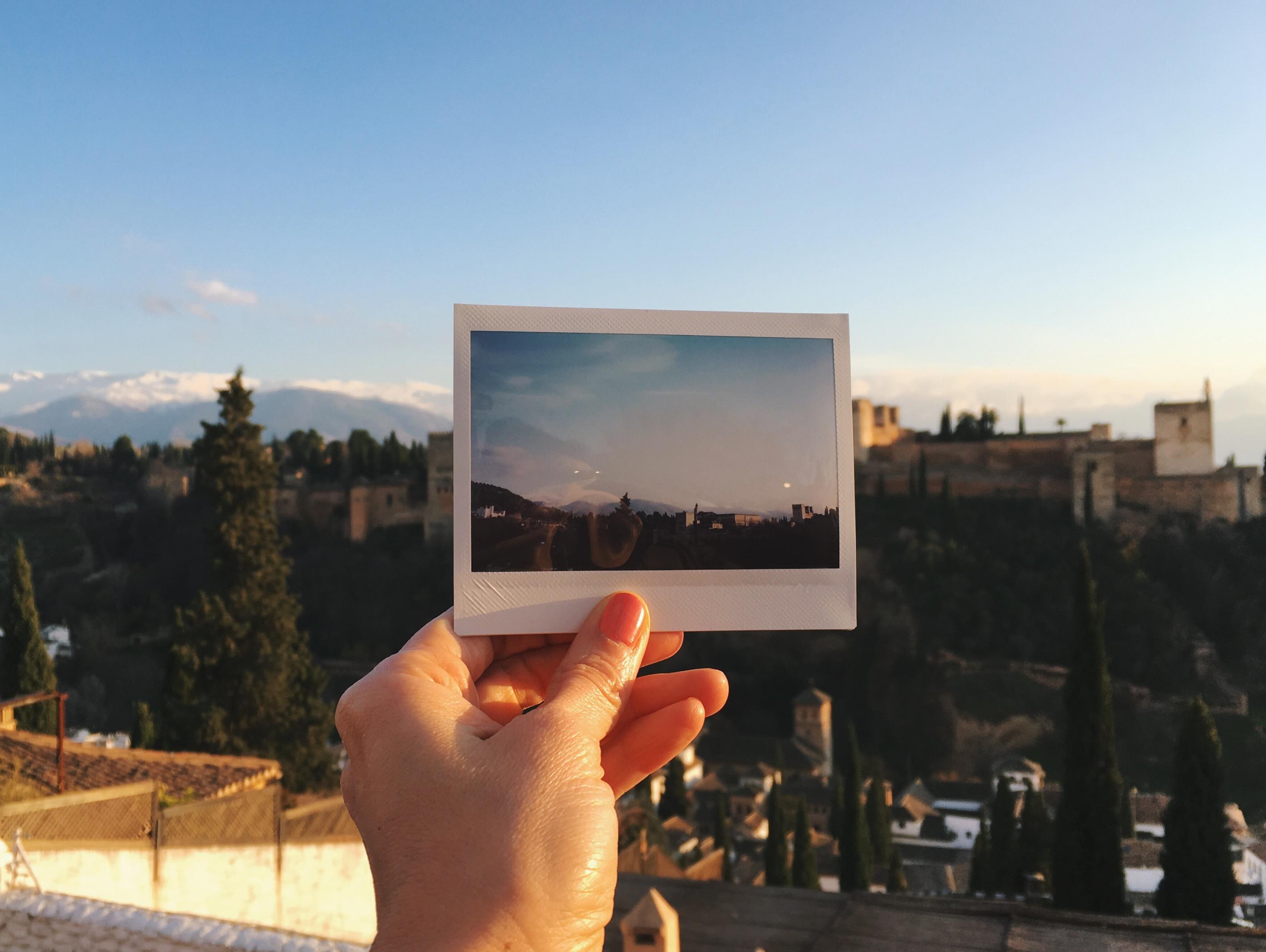 View of La Alhambra from the San Nicolás Mirador.