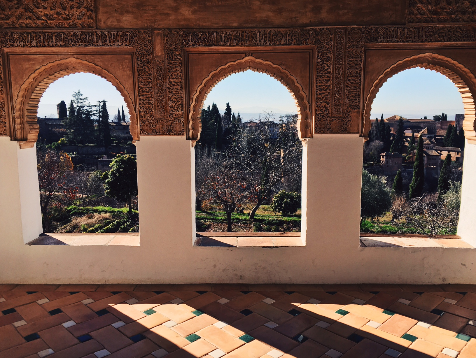 In the background you can see the Alhambra. Hello!