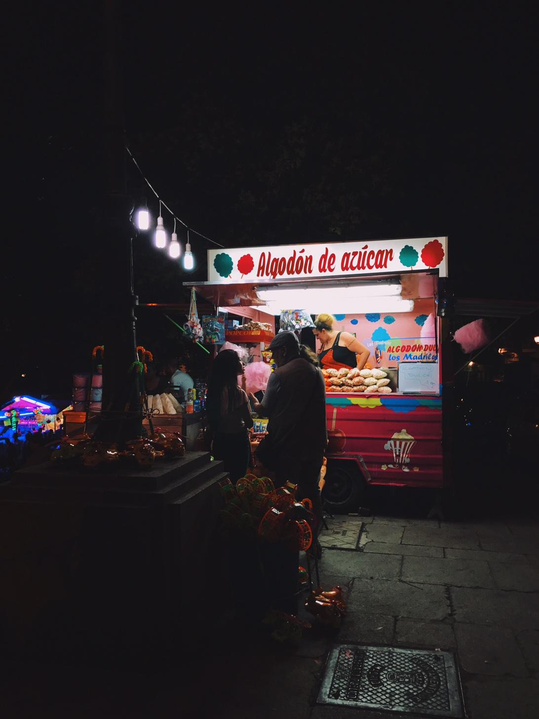Street food around the streets of La Latina during La Paloma.