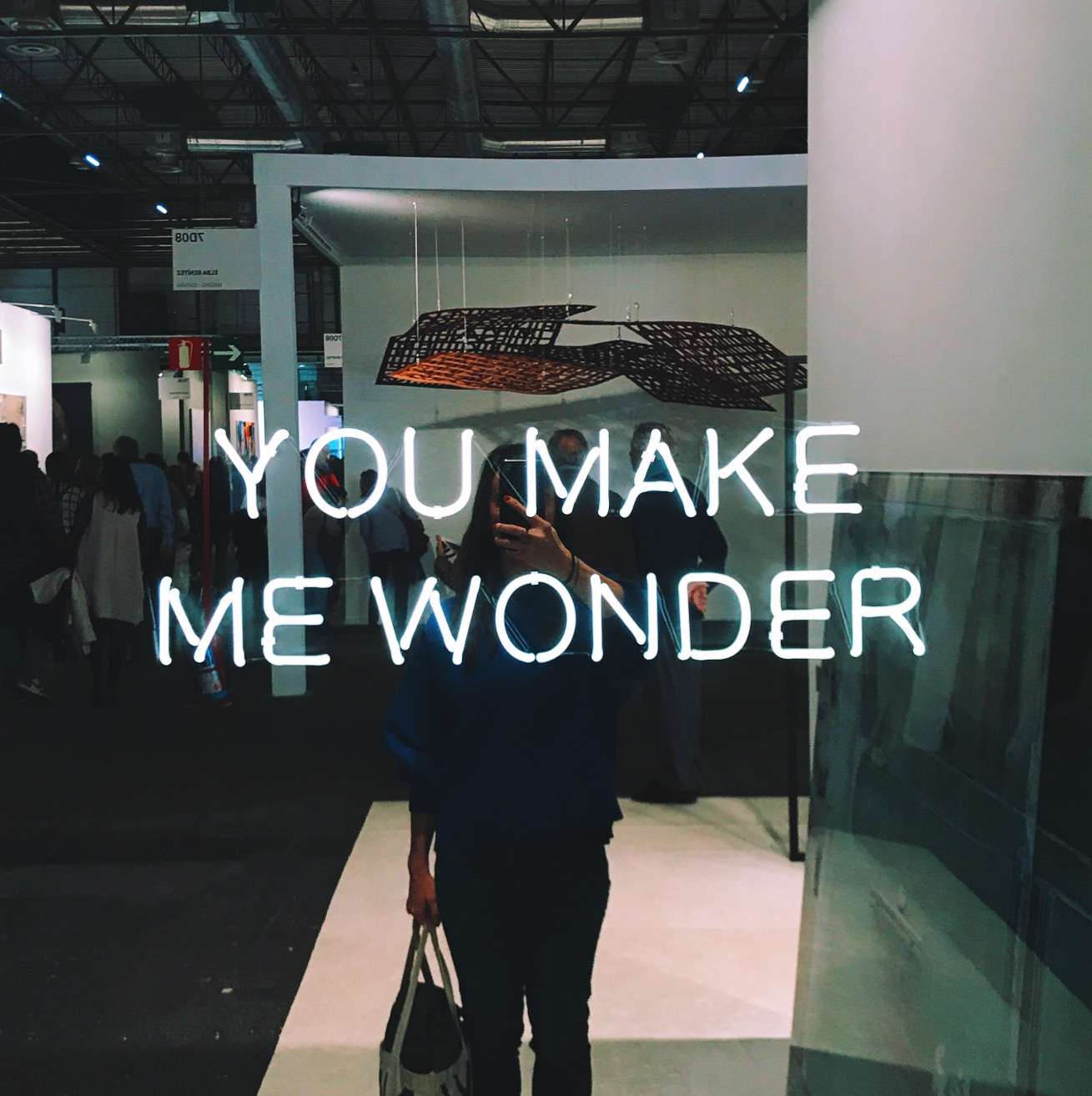 I'm not immune to selfies, I'm only human. This is me in front of Jeppe Hein's You Make Me Wonder (1974).