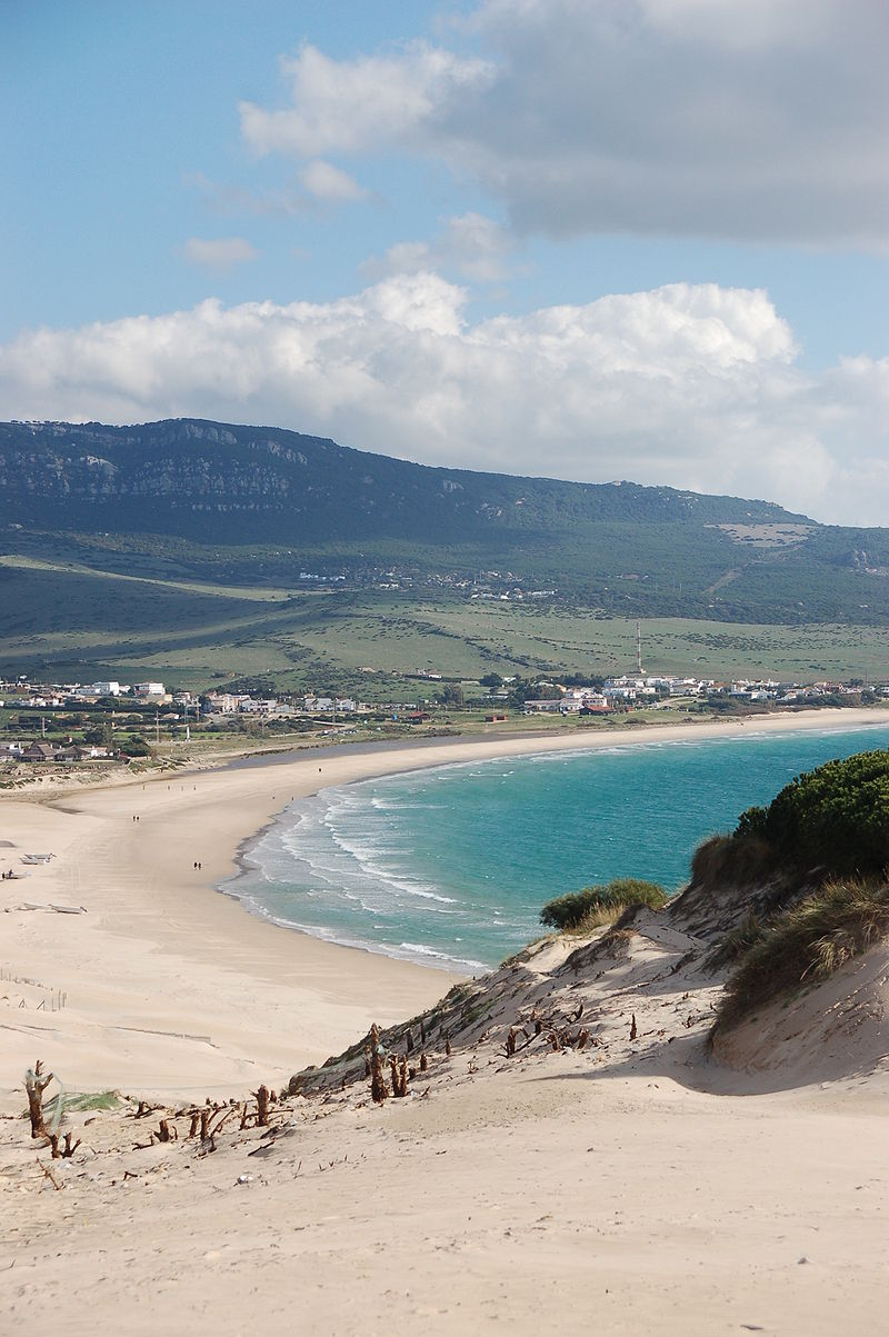 Bolonia beach from the dune. Photo: Roland Geider vía Wikipedia.