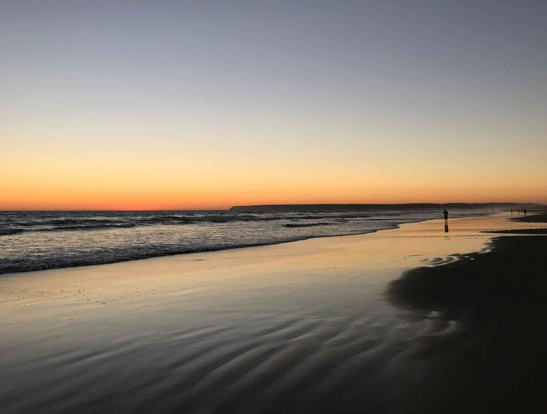 Le sunset.