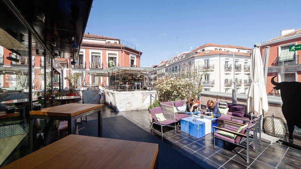 San Antón Market Rooftop.   Foto vía Mahou Madrid.