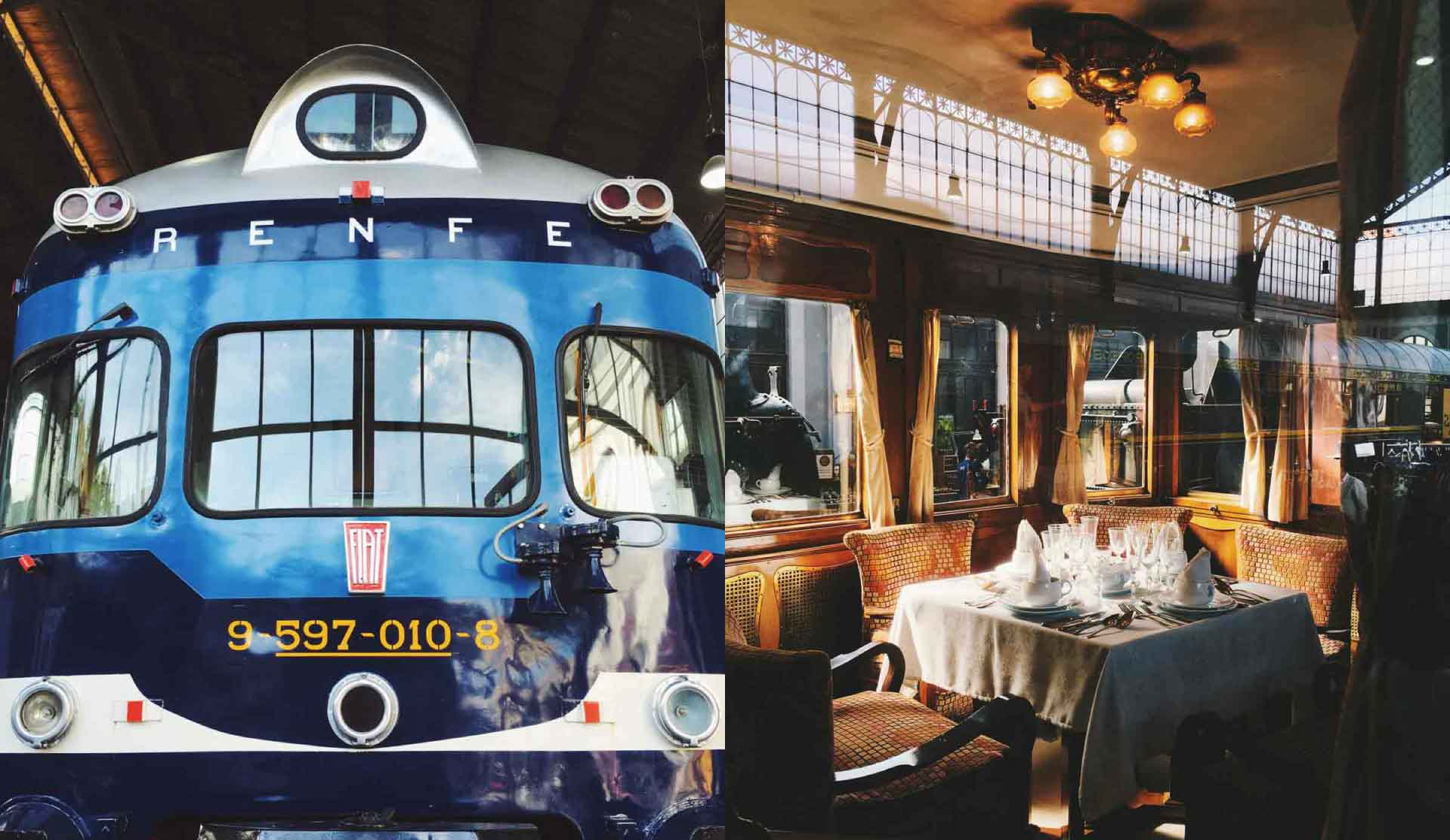 A nice colourful collection of trains will take you traveling back in time (: