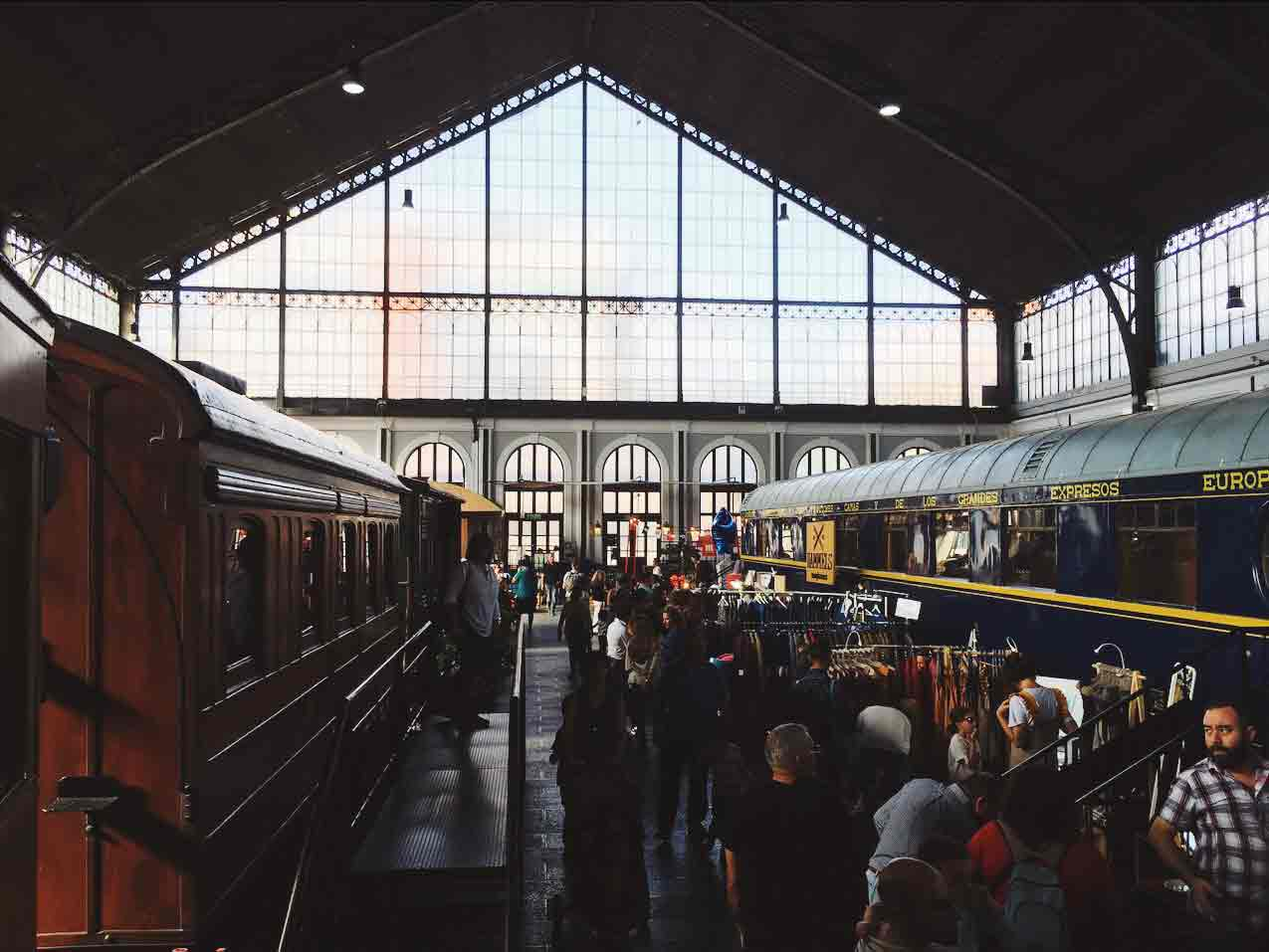 The location is an antique train station, and it's so magnificent and beautiful!