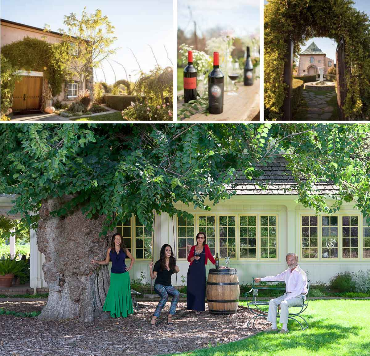 Images of the winery and of the Peju family vía Peju's Website.