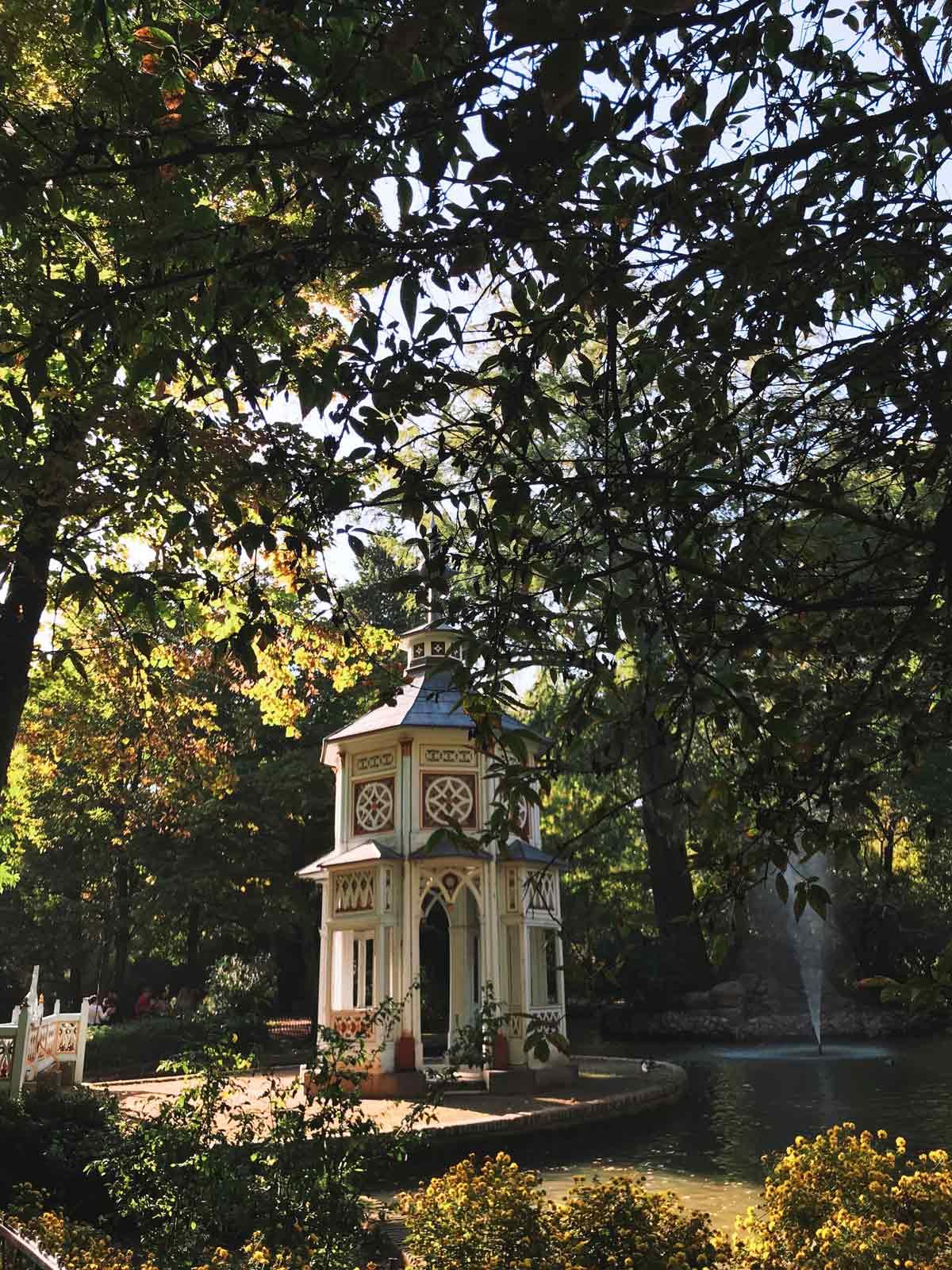 Parte del Pabellón Chinesco en el Jardín del Príncipe.
