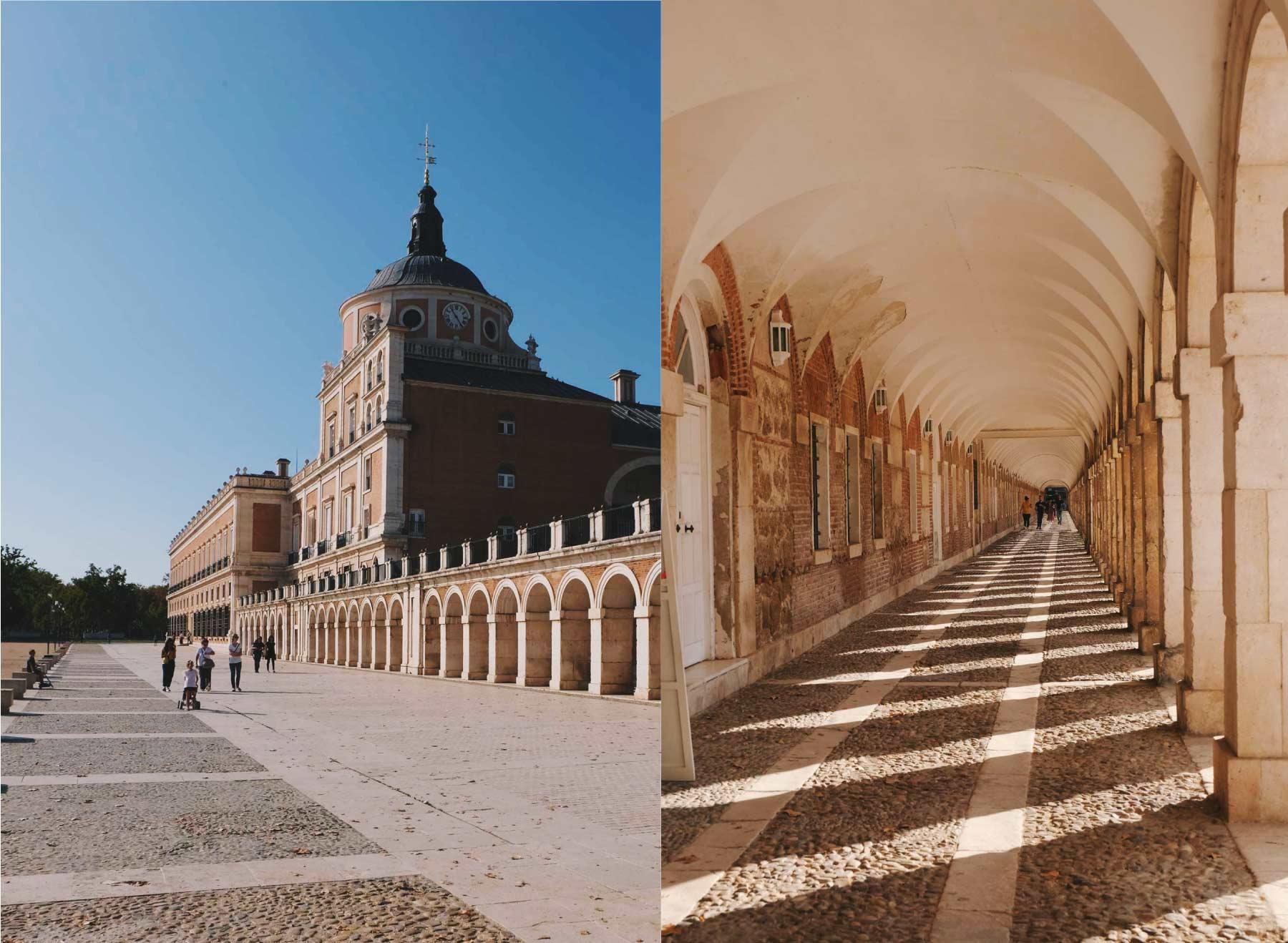 Palacio y pasillo junto al Palacio.