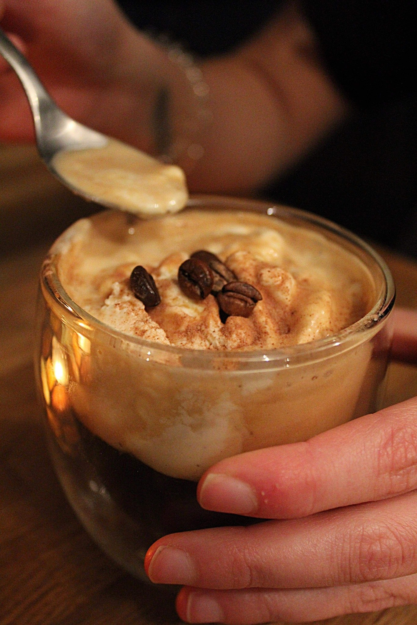 Affogato al Caffe. | Photo vía The Oaktree Vegan Restaurant FB.